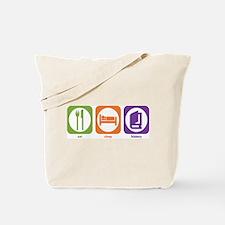 Eat Sleep History Tote Bag