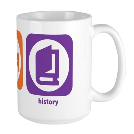 Eat Sleep History Large Mug
