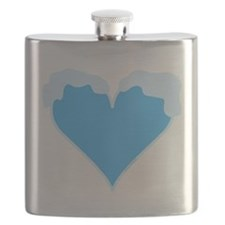 Snow Capped Heart Flask