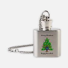 Christmas Hanukkah Interfaith Flask Necklace