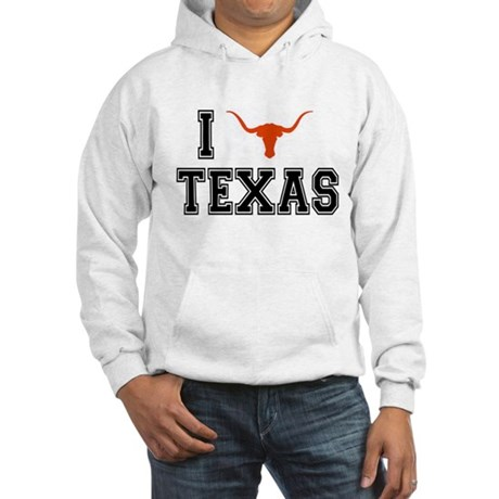 I heart Texas Hooded Sweatshirt