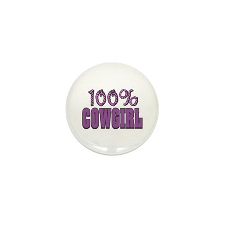 100% CowGirl Mini Button (10 pack)
