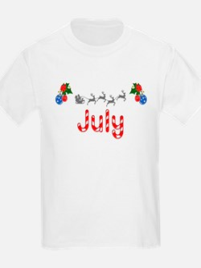 July, Christmas T-Shirt