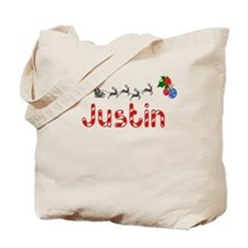 Justin, Christmas Tote Bag