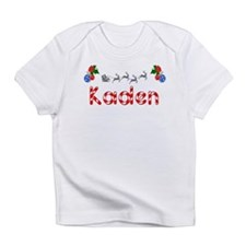 Kaden, Christmas Infant T-Shirt