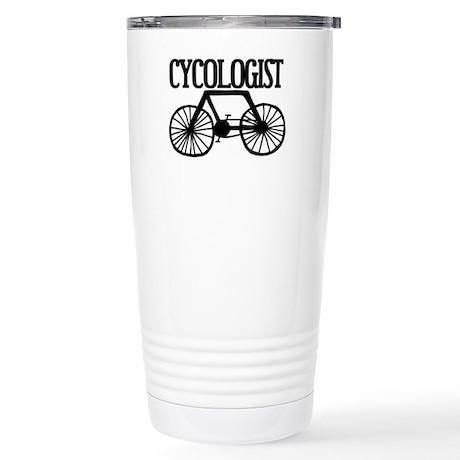 'Cycologist' Stainless Steel Travel Mug