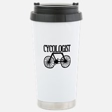 'Cycologist' Stainless Steel Travel Mug