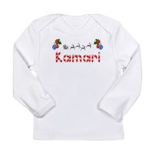 Kamari, Christmas Long Sleeve Infant T-Shirt