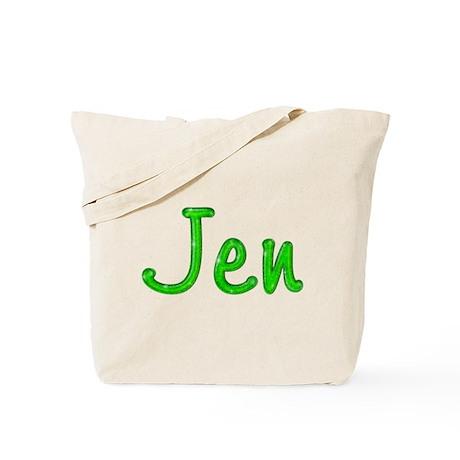 Jen Glitter Gel Tote Bag