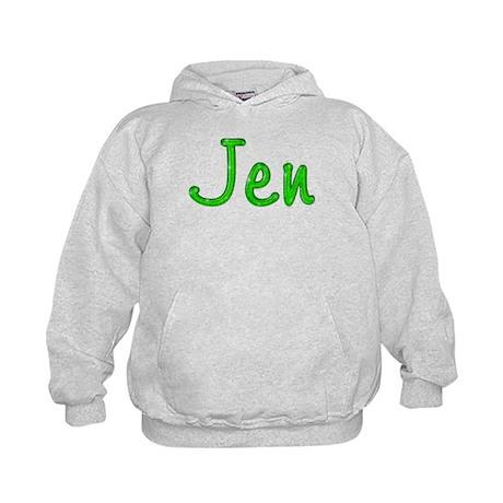 Jen Glitter Gel Kids Hoodie