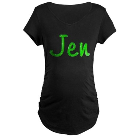 Jen Glitter Gel Maternity Dark T-Shirt