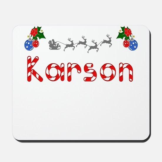 Karson, Christmas Mousepad