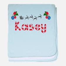 Kasey, Christmas baby blanket