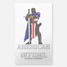 American Infidel Sticker (Rectangle)