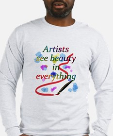 Artists See Beauty Long Sleeve T-Shirt
