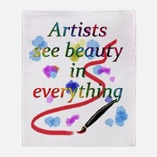 Artists See Beauty Throw Blanket