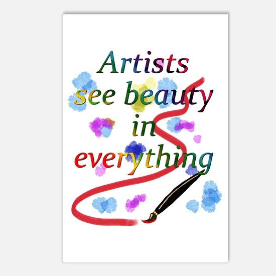 Artists See Beauty Postcards (Package of 8)