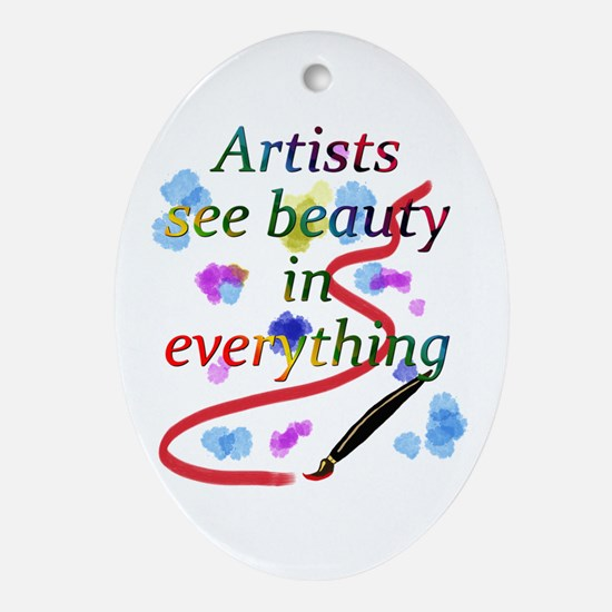 Artists See Beauty Ornament (Oval)
