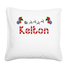Kelton, Christmas Square Canvas Pillow