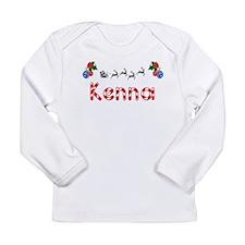 Kenna, Christmas Long Sleeve Infant T-Shirt