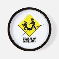 Beware of Sasquatch Wall Clock