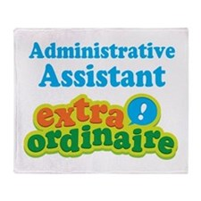 Administrative Assistant Throw Blanket