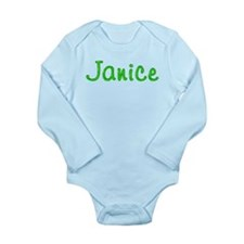 Janice Glitter Gel Long Sleeve Infant Bodysuit