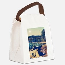Rocky Shores of Lake Superior Canvas Lunch Bag