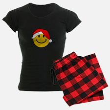 Santa Christmas Smiley Face Pajamas