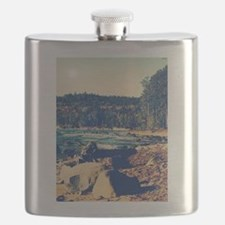 Rocky Shores of Lake Superior Flask