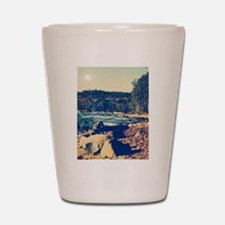 Rocky Shores of Lake Superior Shot Glass
