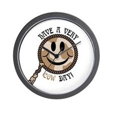 Cow Day Smiley Wall Clock