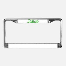 Jakob Glitter Gel License Plate Frame