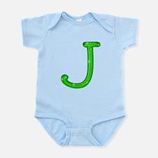 J Glitter Gel Infant Bodysuit