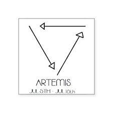 "Artemis Asterian astrology Square Sticker 3"" x 3"""