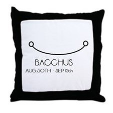 Bacchus Asterian astrology Throw Pillow