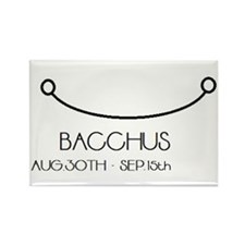Bacchus Asterian astrology Rectangle Magnet