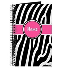 Pink Zebra Print Personalized Journal