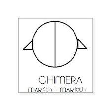 "Chimera Asterian astrology Square Sticker 3"" x 3"""