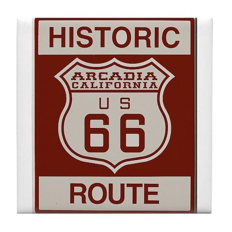 Arcadia Route 66 Tile Coaster