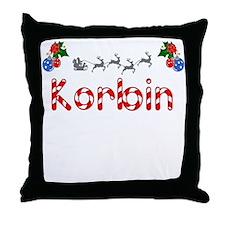 Korbin, Christmas Throw Pillow