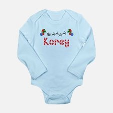 Korey, Christmas Long Sleeve Infant Bodysuit