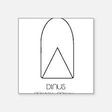 "Dinus Asterian astrology Square Sticker 3"" x 3"""