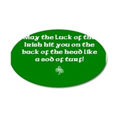 May the luck of the Irish hit you on the head... 2