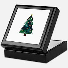Sweet Stained Glass Christmas Tree Keepsake Box