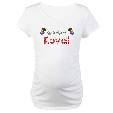 Koval, Christmas Maternity T-Shirt
