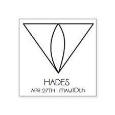 """Hades Asterian astrology Square Sticker 3"""" x 3"""""""