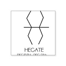"""Hecate Asterian astrology Square Sticker 3"""" x 3"""""""