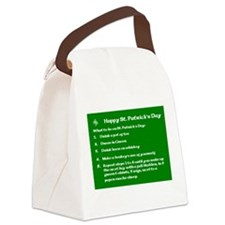 What to do on St. Patricks Day Canvas Lunch Bag