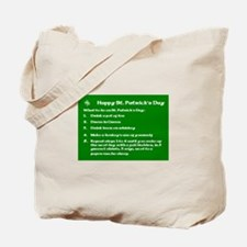 What to do on St. Patricks Day Tote Bag